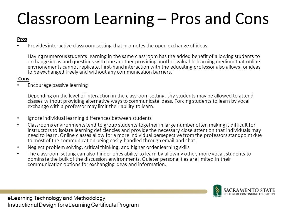 Classroom Layouts Pros And Cons ~ Elearning technologies and methodologies ppt download