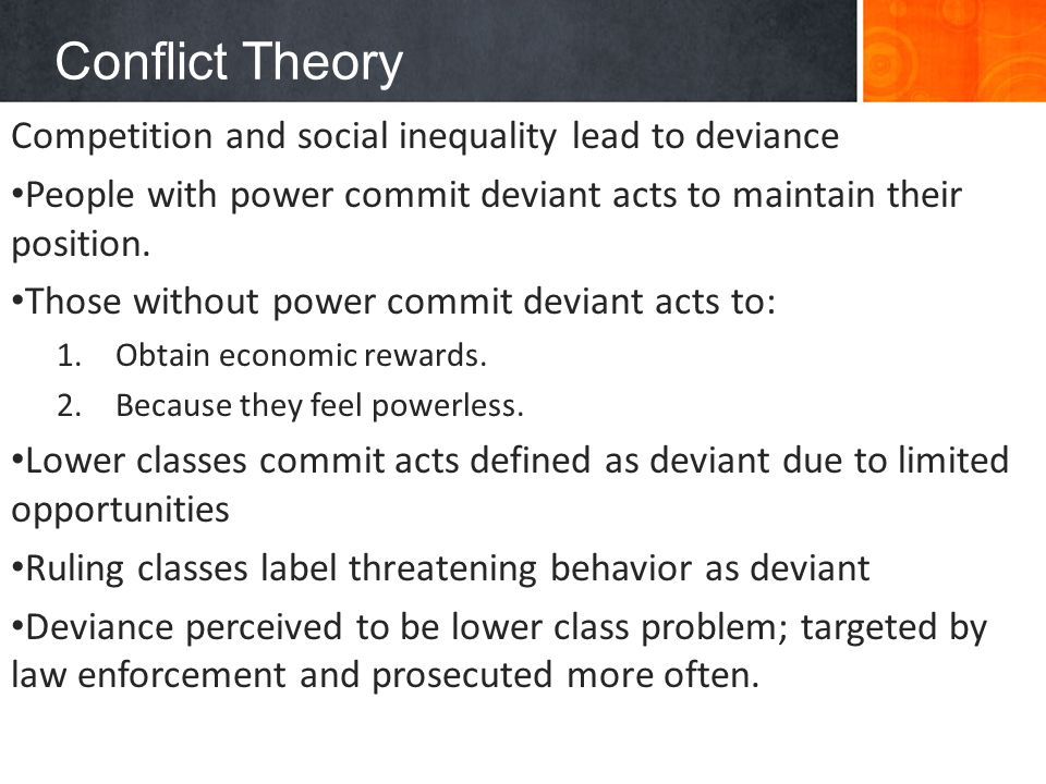 conflict theory and social theory