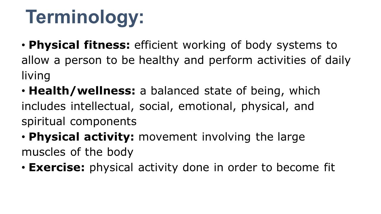 Physical fitness terms