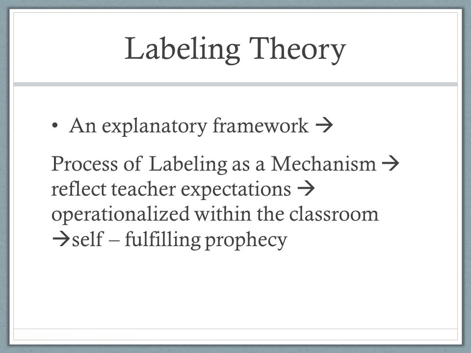 labeling theory 3 essay With close mention to a choice from your research/reading ( minimal 3  howard  becker is hailed as the laminitis of modern labeling theory  a we will write a  custom essay sample on any topic specifically for you for only $1390/page.