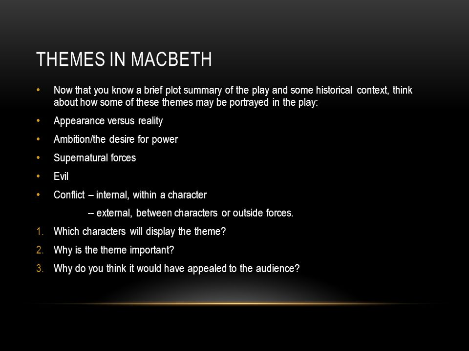 what are the themes in macbeth