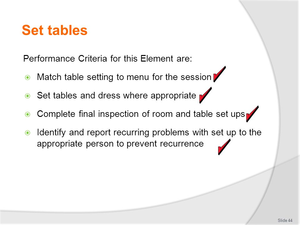 Set tables Performance Criteria for this Element are  sc 1 st  Loris Decoration & appropriate table setting u2013 Loris Decoration