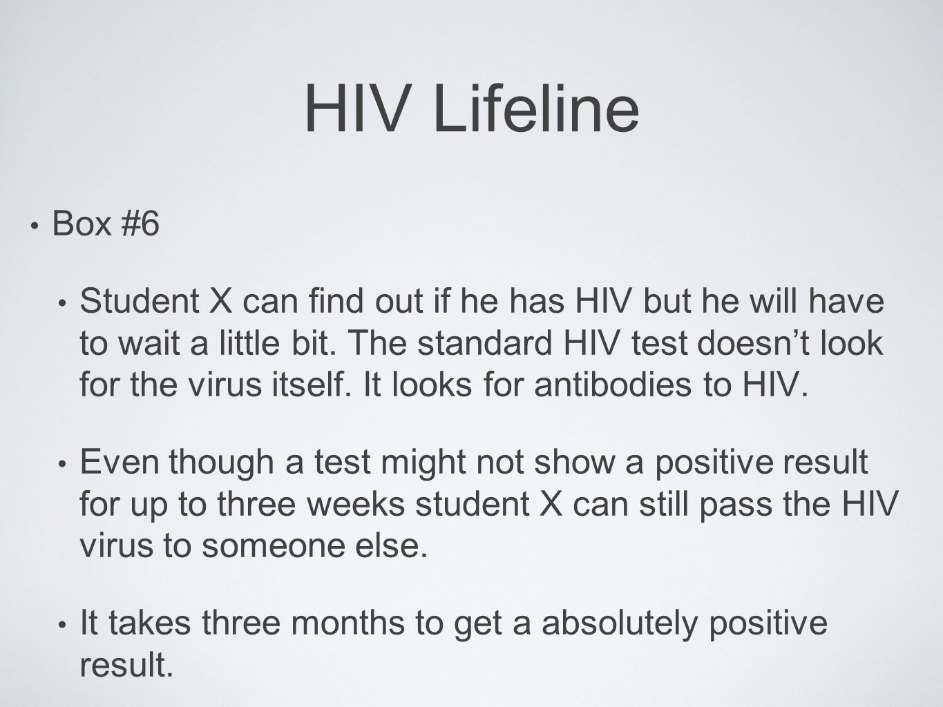 HIV Lifeline Box #6.