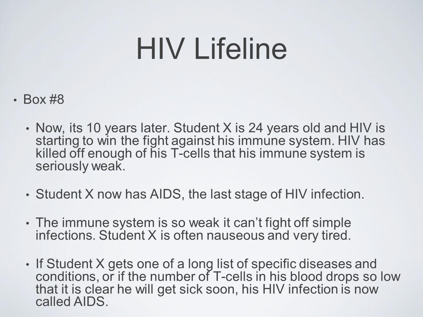 HIV Lifeline Box #8.