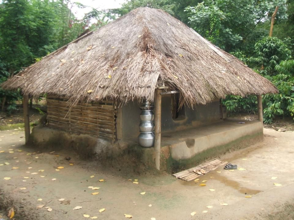This is an Adivasi house in Chembakolli.