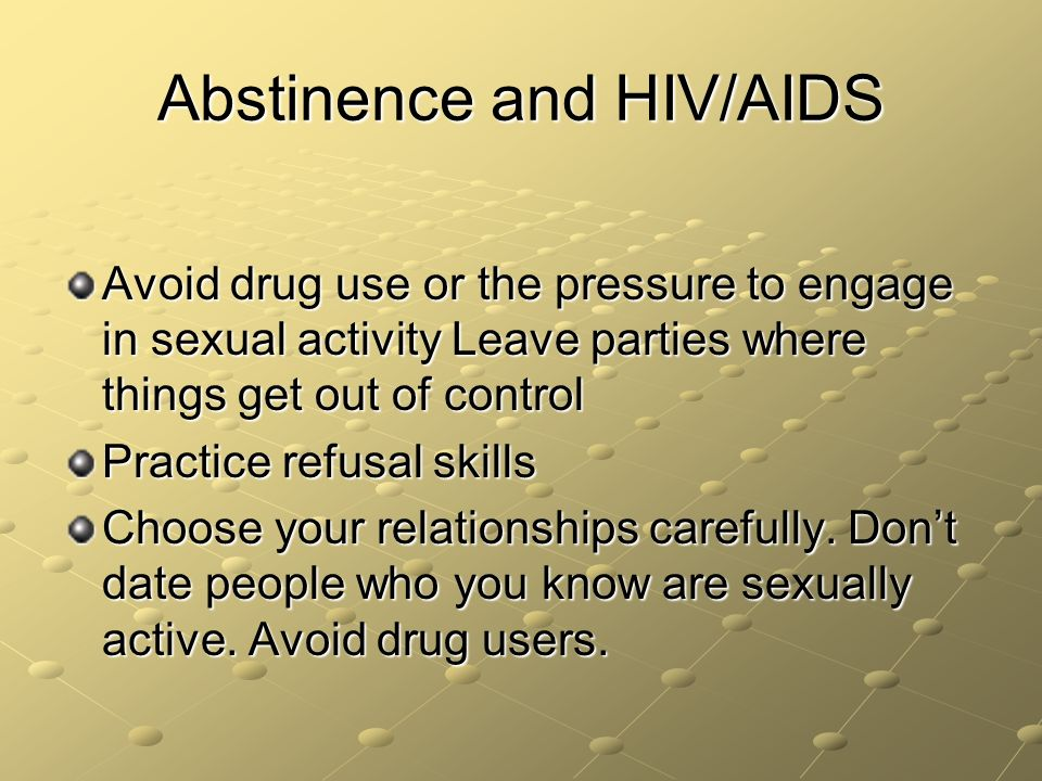chapter hiv aids and stis ppt video online  abstinence and hiv aids