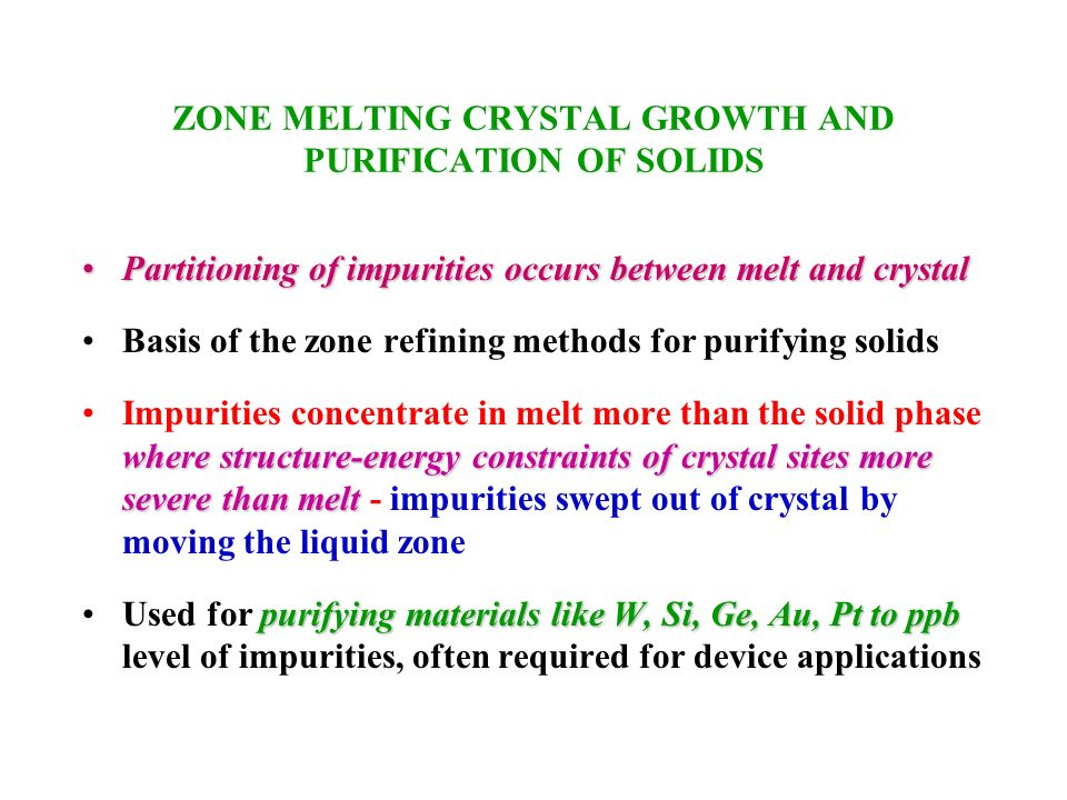 the purity and purification of solids melting Melting point as an indicator of purity purify the impure solid evaluate success by melting point & tlc experiment 2: recrystallization & melting point.