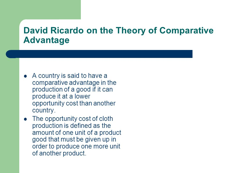 Theory of Comparative Costs (With Six Criticism)