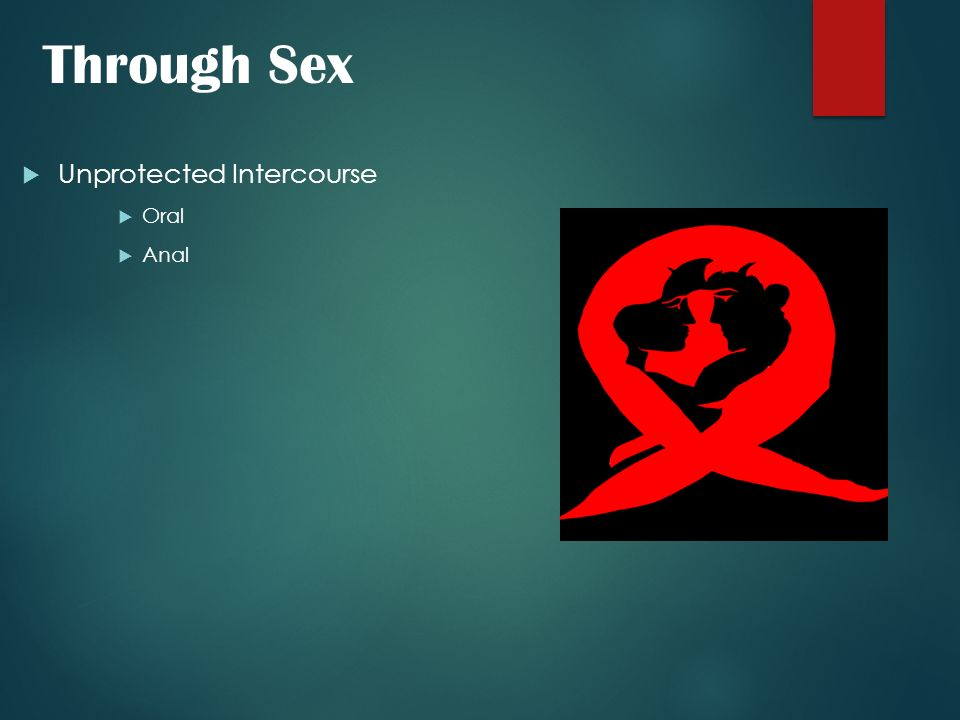 Through Sex Unprotected Intercourse Oral Anal