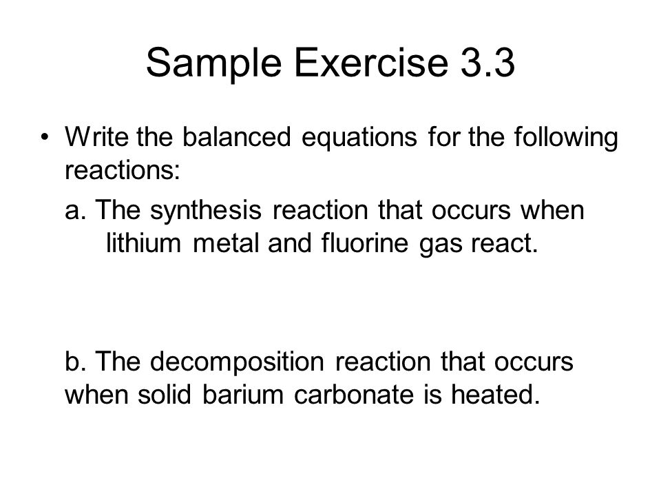 write and balance equations for the following reactions Answer to write a balanced equation for each of the following reactions involved  in this experiment: magnesium + oxygen rightarrow.