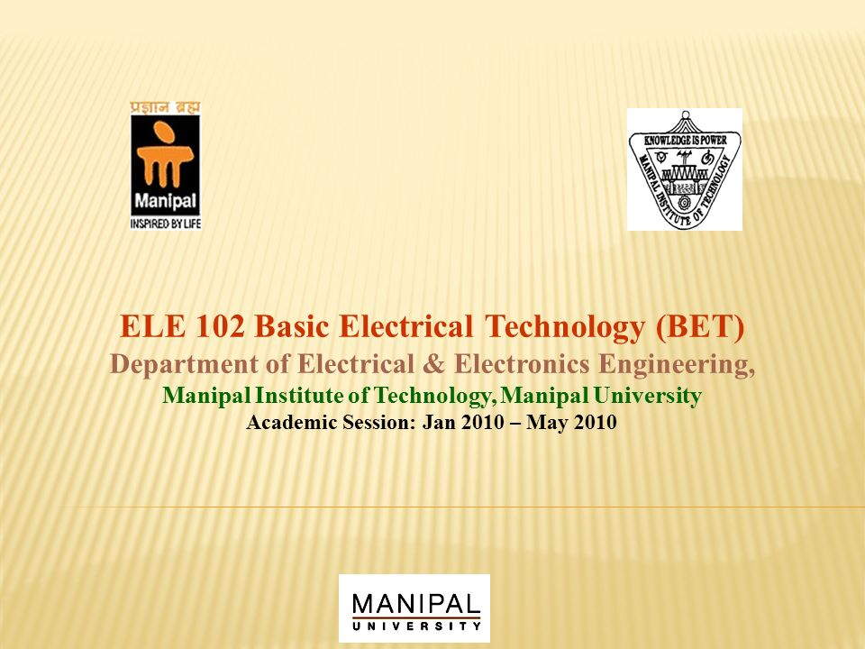 ELE 102 Basic Electrical Technology (BET) - ppt video online download