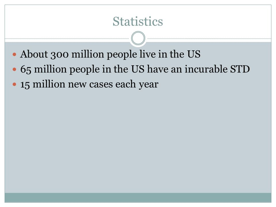 Statistics About 300 million people live in the US