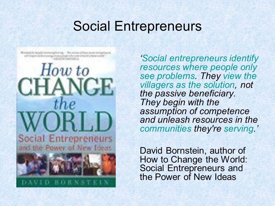 how to change the world david bornstein