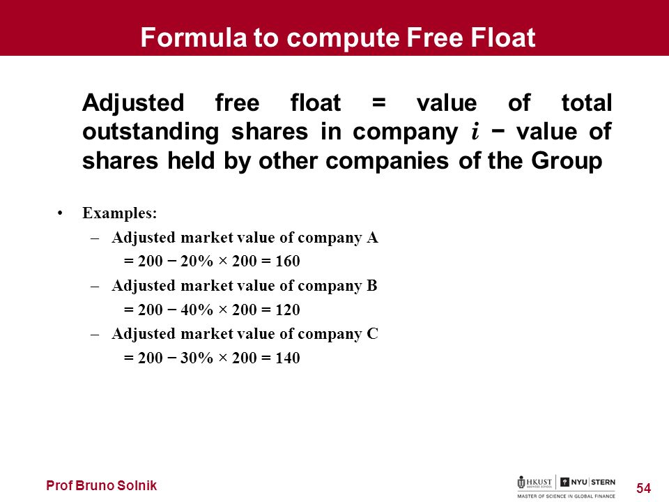 how to find market float value