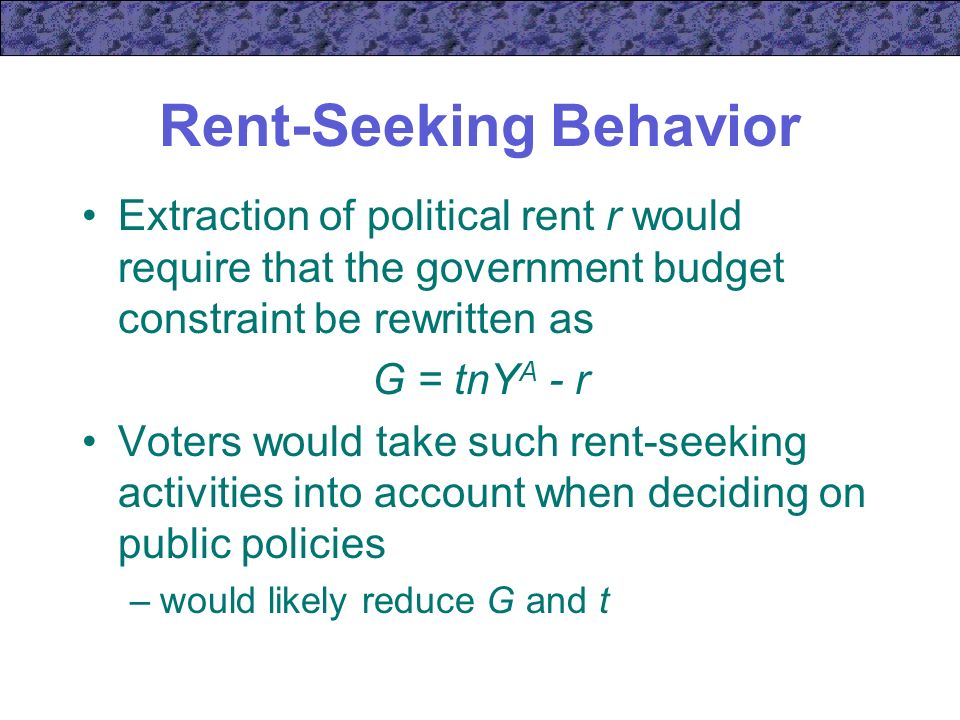 rent seeking government failure Bad effects lobbying and rent seeking can have on the economy, government of tariffs and monopolies - two of the possible goals of rent seeking - failed to.