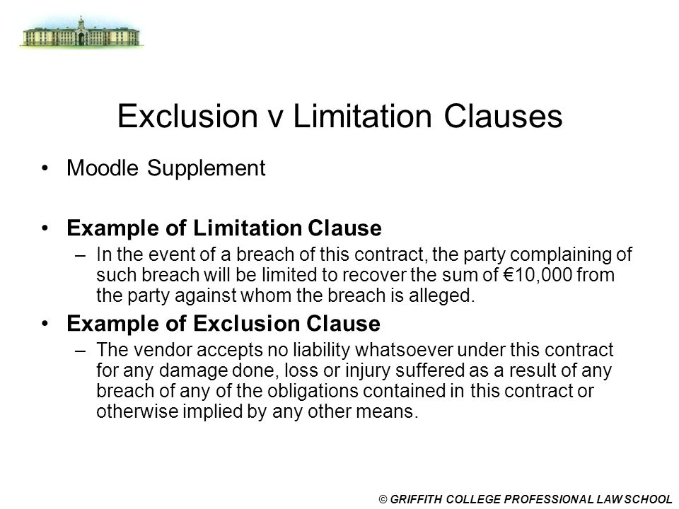 exemption clause Short notes on: exemption clauses and consumer protection act  the court had to determine whether the exemption clause was binding on naidoo or if it was.