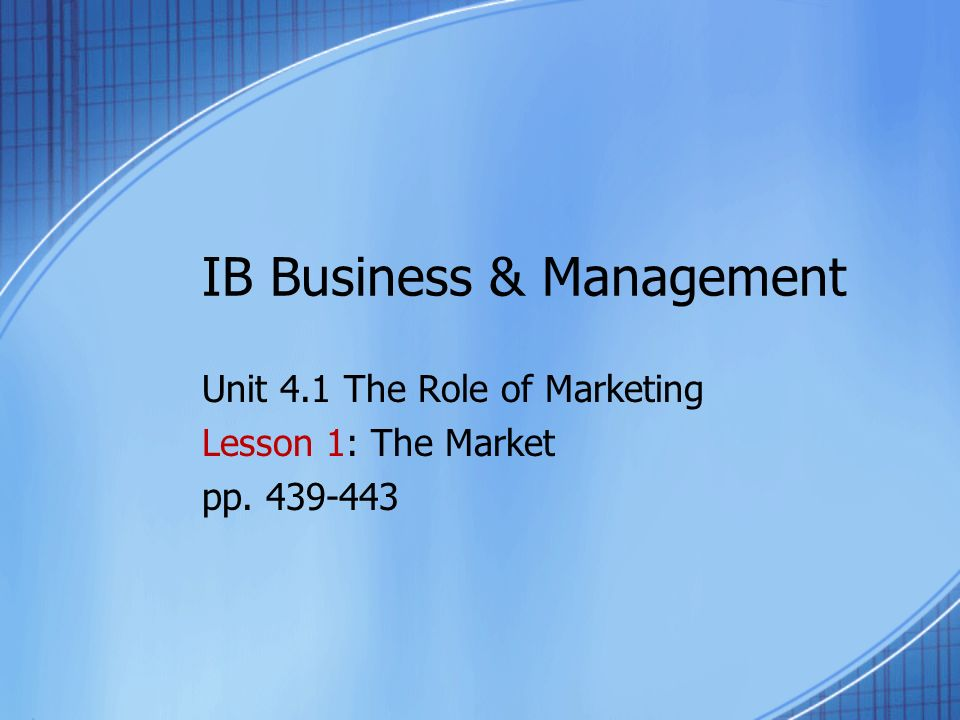 Business and Administration Unit 1 Assessment 1