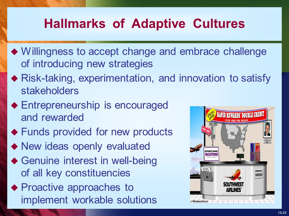 adaptive organizational cultures Culture is under attack it is currently being blamed for most implementation and execution problems culture trumps everything, it is argued, usually without the.