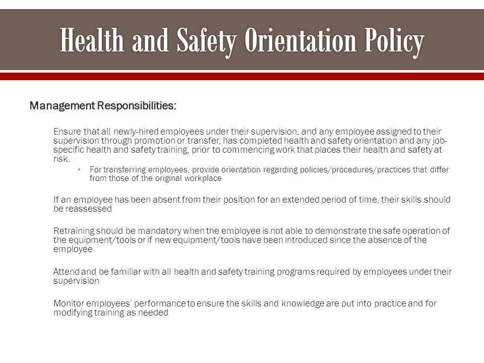 how health and safety policies and procedures protect those in social care settings The purpose of healthcare policy and procedures is to provide standardization in daily operational activities through our many years working with policies and procedures it has become clear to us that they are essential in providing clarity when dealing with issues and activities that are critical to health and safety, legal liabilities and regulatory requirements.