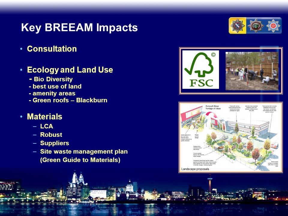 Key BREEAM Impacts Consultation
