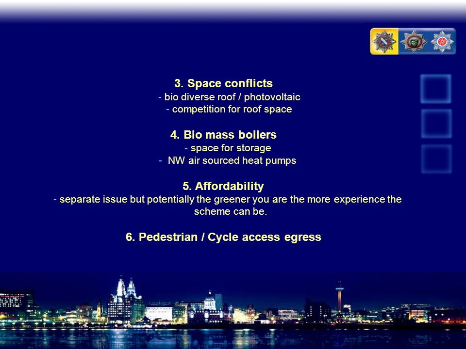 6. Pedestrian / Cycle access egress