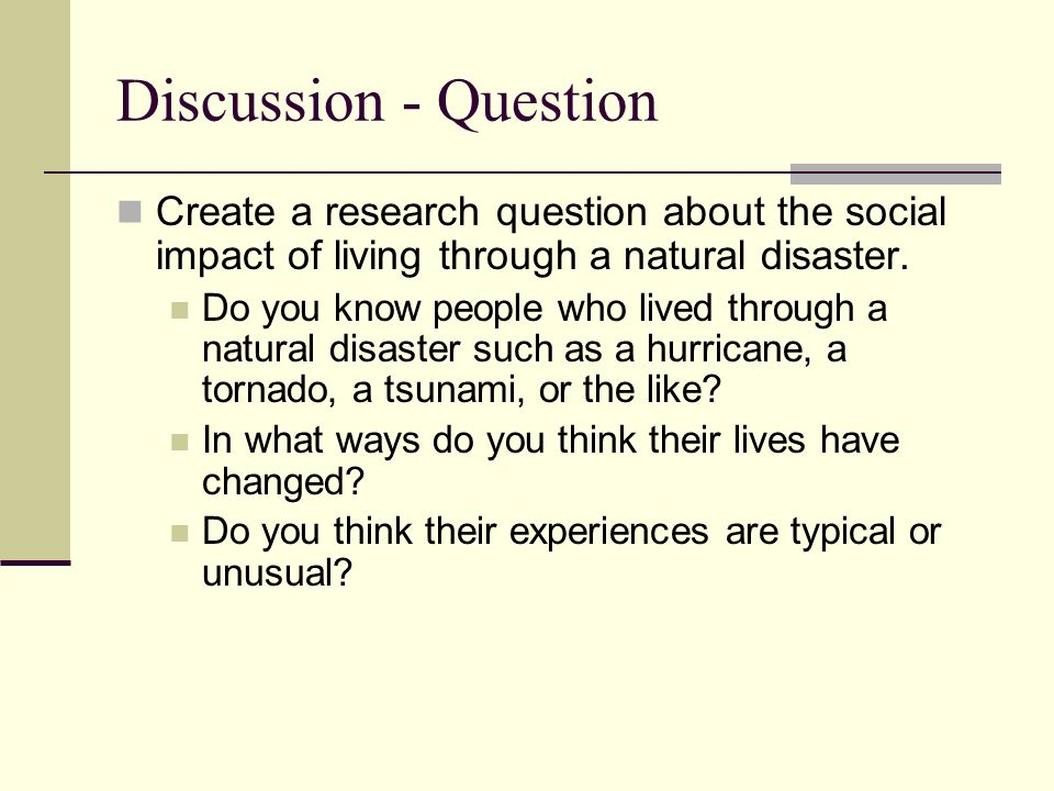 natural disaster have a greater impact The impacts of natural disasters on the poor: how natural are so-called natural disasters 2 why do the impacts of such experience a greater impact on.