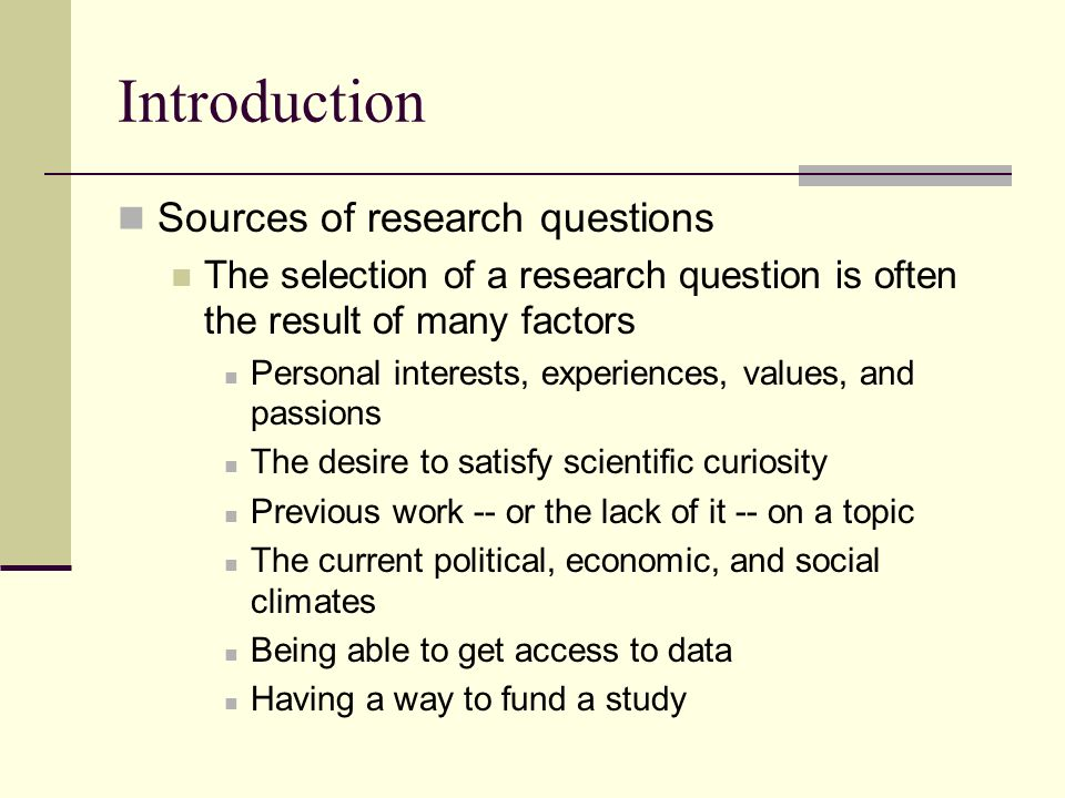 Good questions for research papers