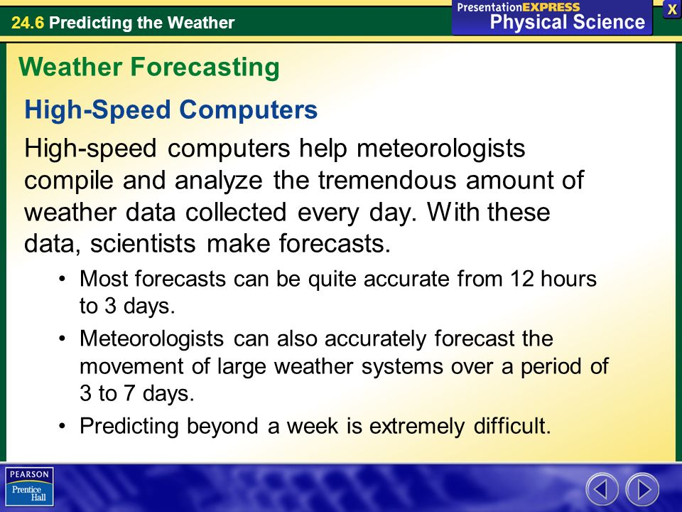Weather Forecasting High-Speed Computers