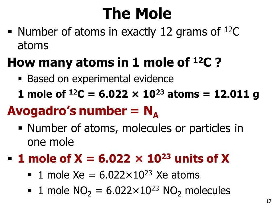 how to find atoms from moles