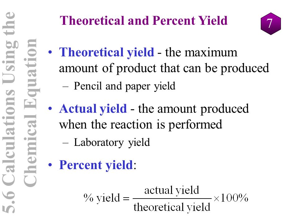percent yield of a precipitate essay Percent yield of a precipitate purposethe purpose of the experiment is to determine the percent yield of the precipitate by performing double displacement reaction between solutions of tw  , we can calculate the theoretical yield of barium sulfate.