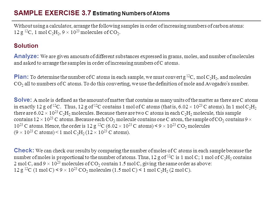 SAMPLE EXERCISE 3.1 Interpreting and Balancing Chemical Equations ...