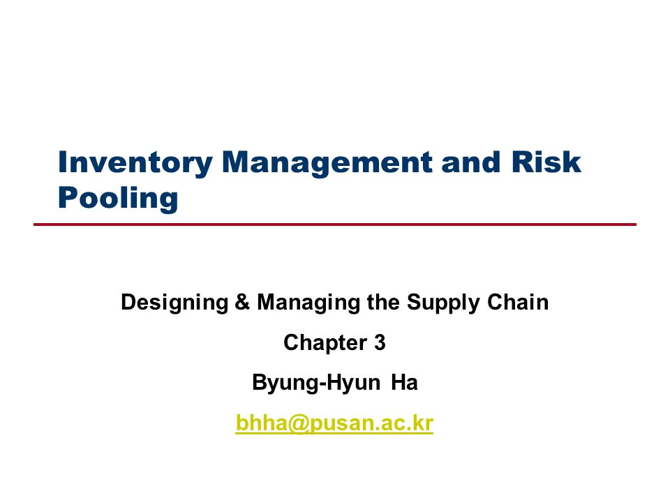 risk pooling in supply chain management pdf