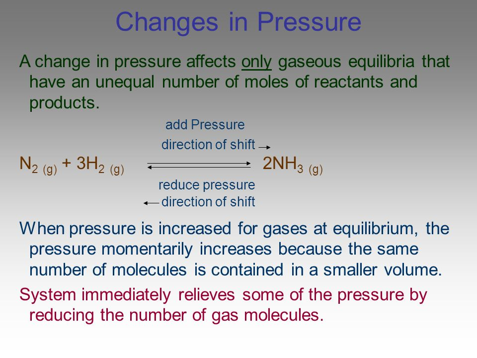 how to find concentration of gas from change in pressure