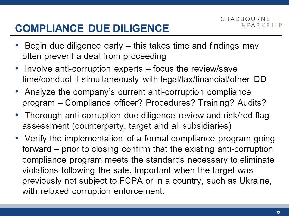 Compliance a key component of m a due diligence in ukraine ppt download - Compliance officer certificate ...