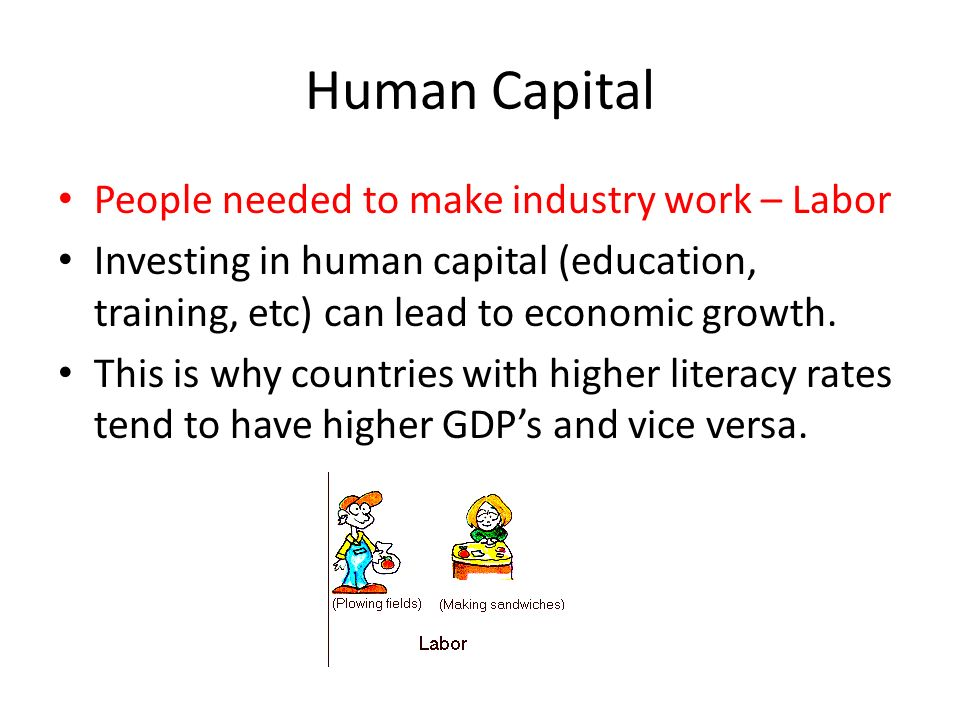 Human Capital People needed to make industry work – Labor