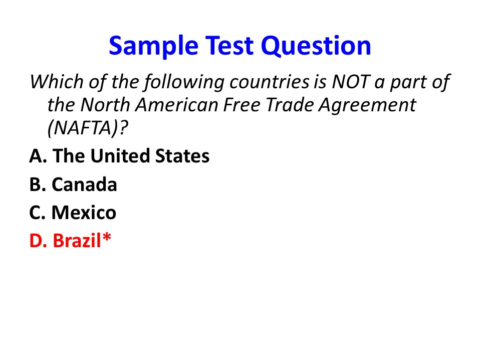 A Discussion About The North American Free Trade Agreement In The