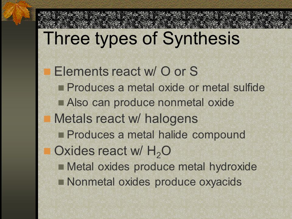 Three types of Synthesis