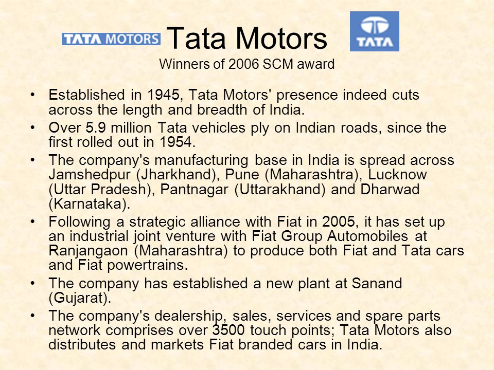 fiat s strategic alliance with tata Volkswagen, skoda and tata begin strategic alliance, shared development   according to the two parties, the ultimate goal is to expand their.
