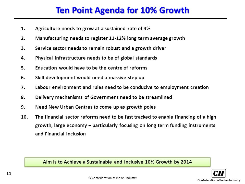 10 point agenda 10 point agenda ccic refuses to accept the belief that poverty is inevitable our  10-point agenda identifies key areas that collectively address the range of.
