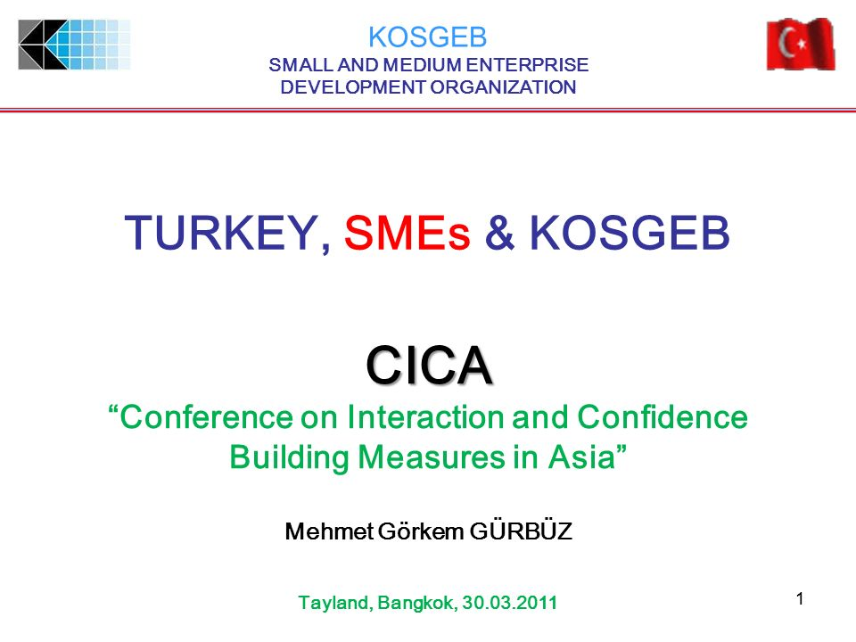 CICA TURKEY, SMEs & KOSGEB Conference on Interaction and Confidence