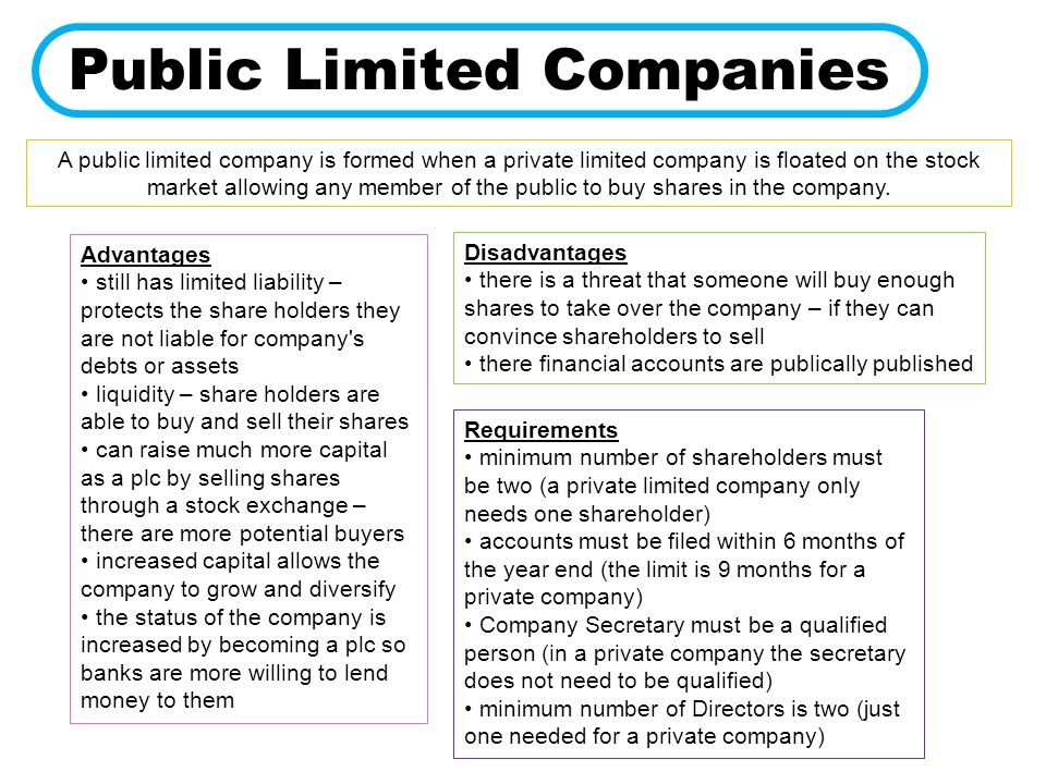 Advantages and disadvantages of public and private companies