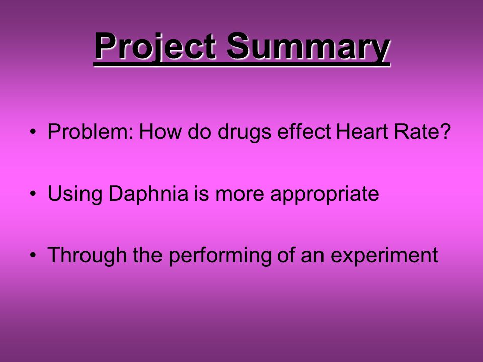 Investigating factors affecting the heart rate of Daphnia