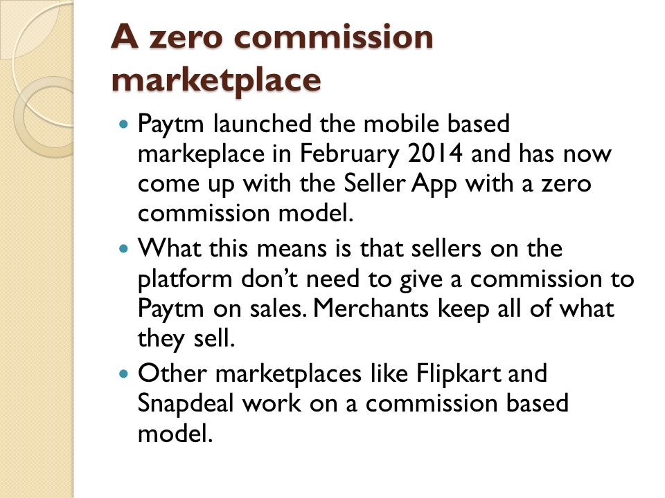 A zero commission marketplace