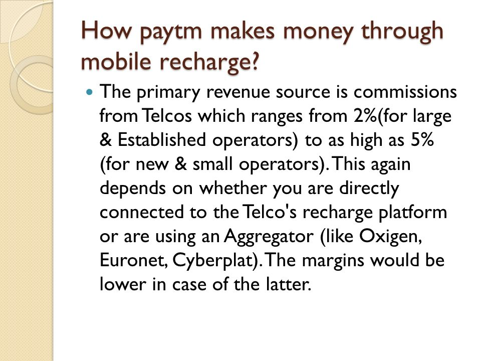 How paytm makes money through mobile recharge
