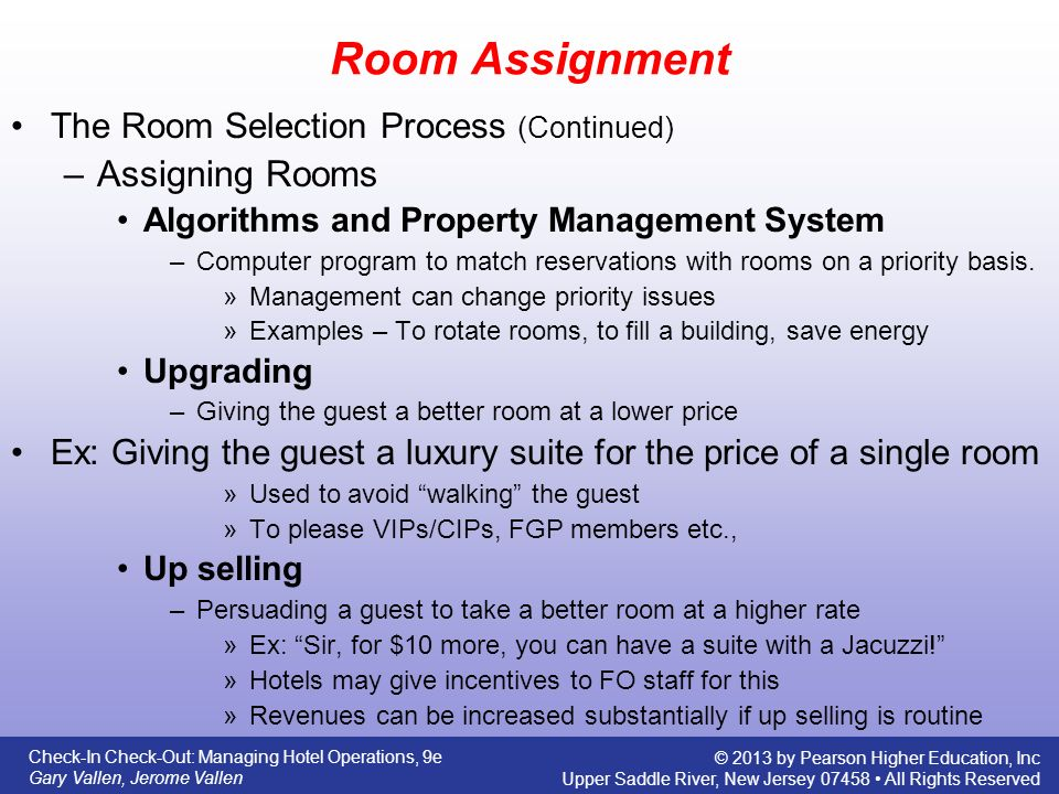 From arrival to rooming ppt download 13 room assignment ccuart Images