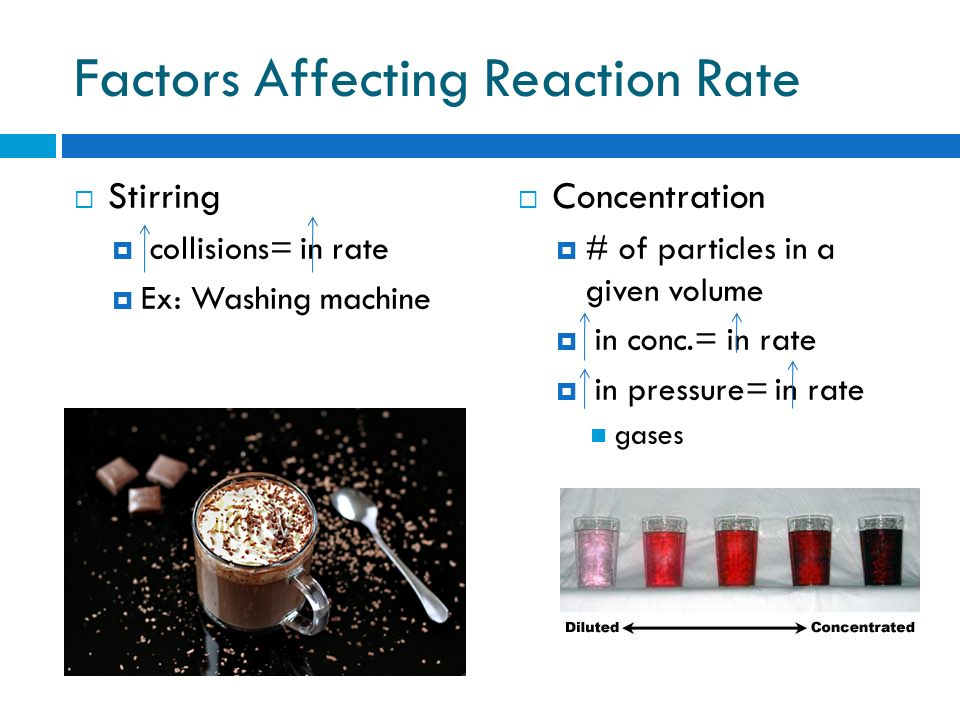 Factors Affecting Reaction Rate