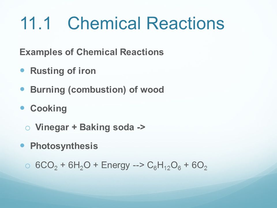 matter and change 111 describing chemical reactions