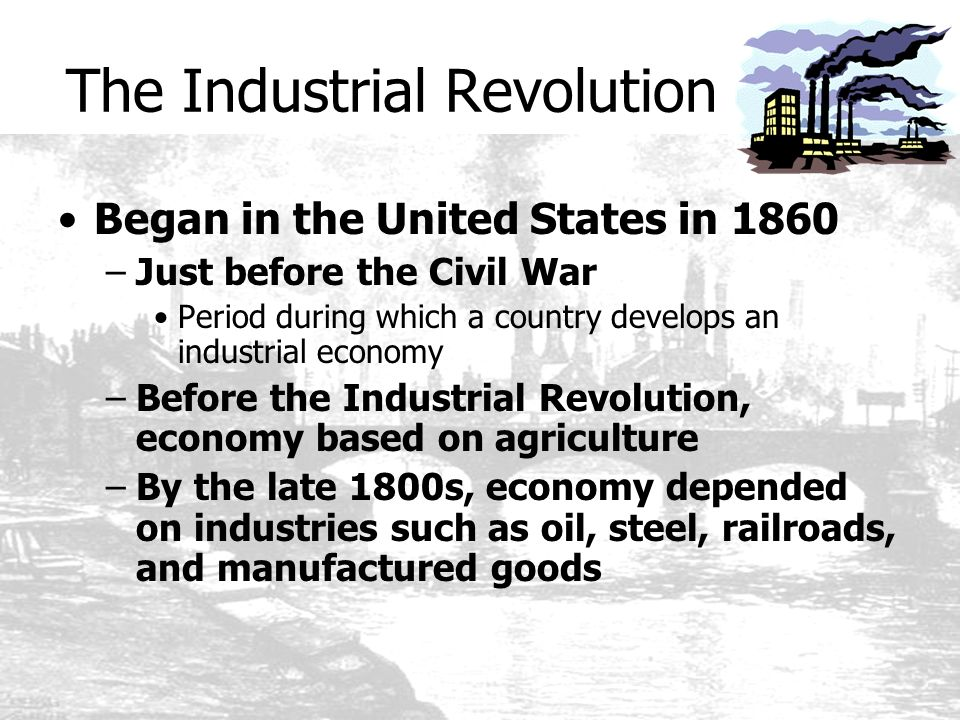 causes of industrialism in united states Industrialization, urbanization, and immigration overview  map from united states pacific railway commission, report to the congress of the united states senate.