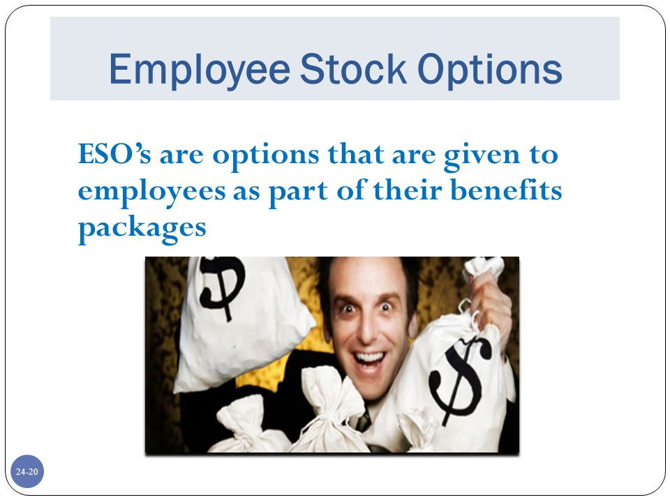 Employee stock options benefit