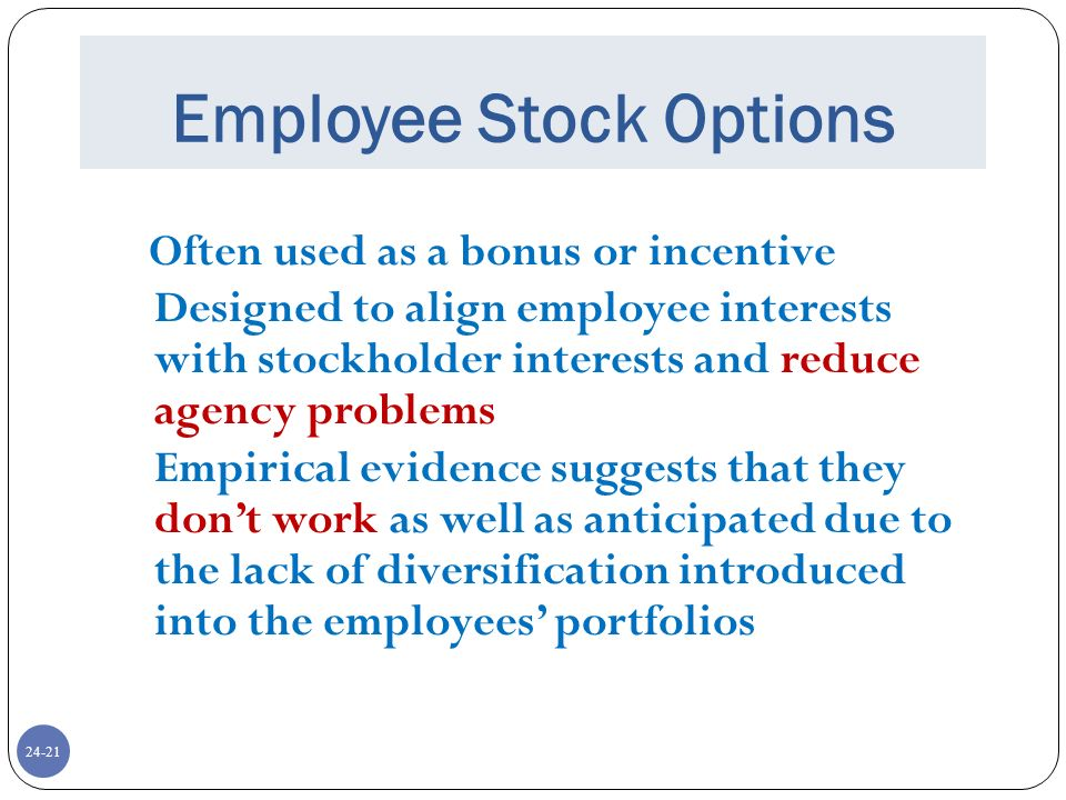 Stock options problems